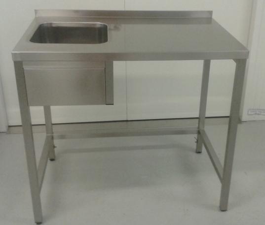 nerezový mycí stůl MS1V
