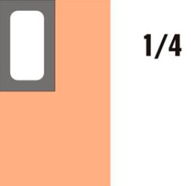 GN-P 1/4×65-hnědá porcelánová