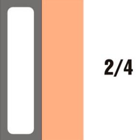 GN-P 2/4×65-hnědá porcelánová
