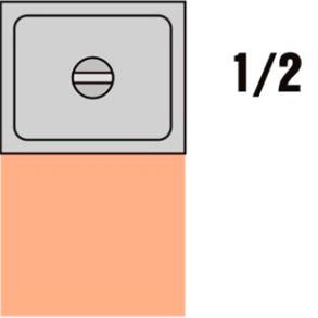 GKN 1/2 Víko nerez s výřezem pro naběračku