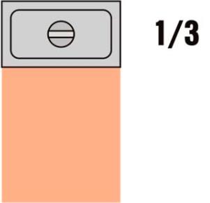 GKN 1/3 Víko nerez s výřezem pro naběračku