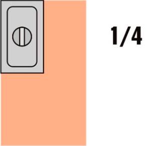 GKN 1/4 Víko nerez s výřezem pro naběračku