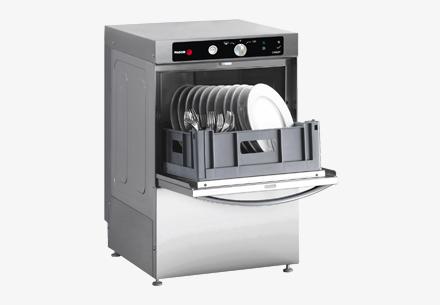 Myčka skla Concept, koš 350×350, model s mechanickým ovládáním, oplach studenou vodu na konci cyklu