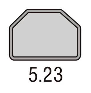 Podnos GOLD 5.23 Trapez