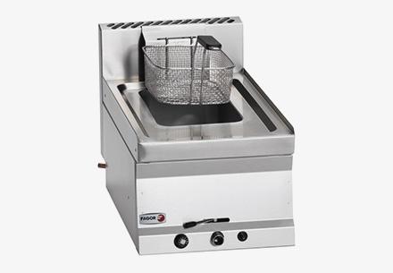 Elektrická fritéza s vodní zónou 25l (olej 17l + studená zóna 8l)