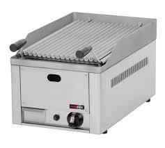 Plynový lávový gril 2x 380x520mm, 2x hořák 6,5kW