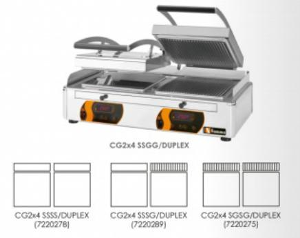 Kontaktní gril CG2x4 SGSG/DUPLEX