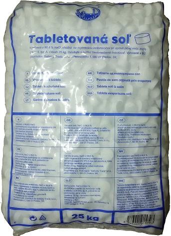 Tabletová regenerační sůl 25 kg