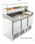Pizza chladící stůl MPS – 1365GR s chladící vitrínkou