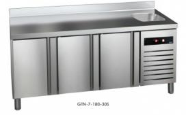 Mrazící stůl GTN-7-180-30 (agregát vlevo+dřez)