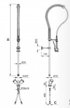 Náhradní hadice bovdenová (nerez, 1000mm)