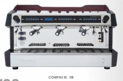 třípákový kávovar COMPASS III. DB. nerez/bílý lak