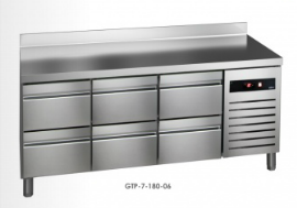 Chladící stůl GTP-7-180-06 (agregát vlevo + dřez)
