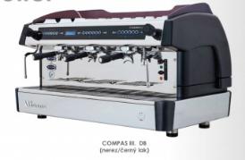 třípákový kávovar COMPASS III. DB. nerez/černý lak
