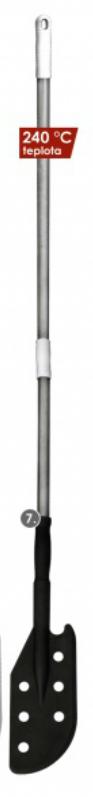 Kopisto s otvory a násadou 125x290mm